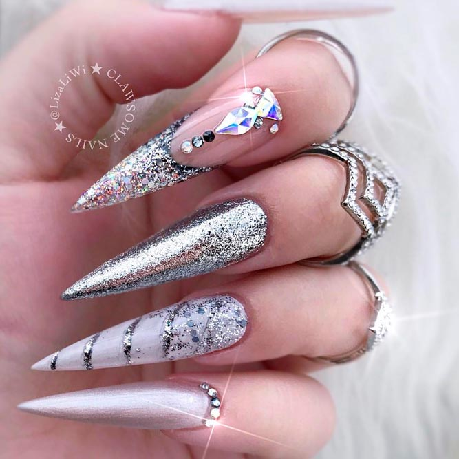 Long Acrylic Stiletto Nails picture 2
