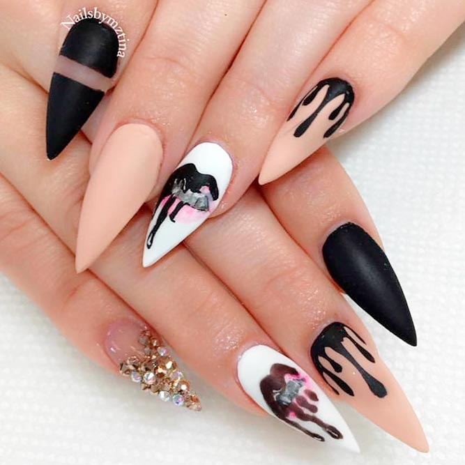 Nail designs for stilettos choice image nail art and nail design nail art designs stiletto gallery nail art and nail design ideas long stiletto nail designs image prinsesfo Gallery
