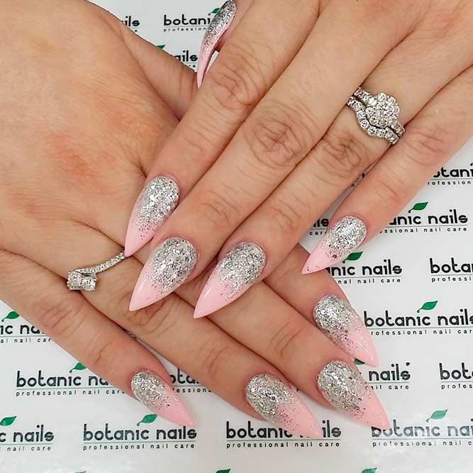 Sweet and Romantic Pink Nail Art picture 3