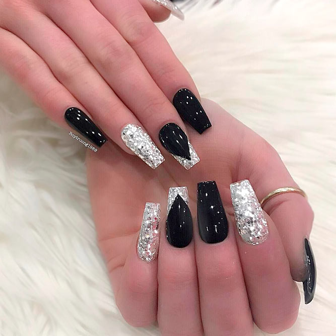 21 Nail Designs For A Coffin Nail Shape