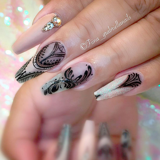 Killer Designs for Coffin Shape Nails picture 2
