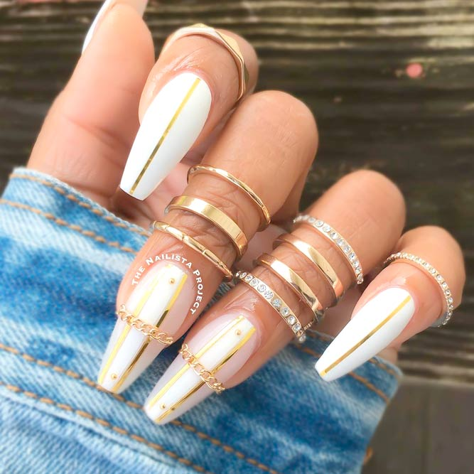 Stunning Coffin Acrylic Nails picture 1