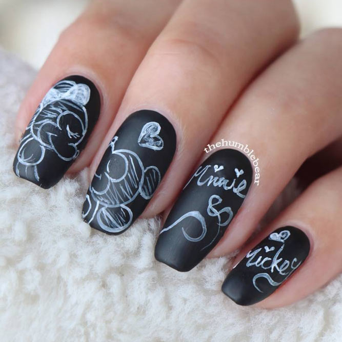 21 coffin style nails to win the day naildesignsjournal black and white nail art picture 3 prinsesfo Choice Image