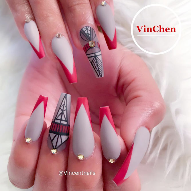 Cool Nails with Trendy Triangle Tips picture 2