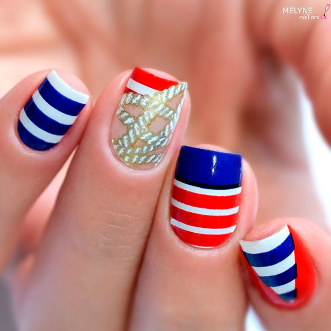 Labor Day Nail Art picture 1