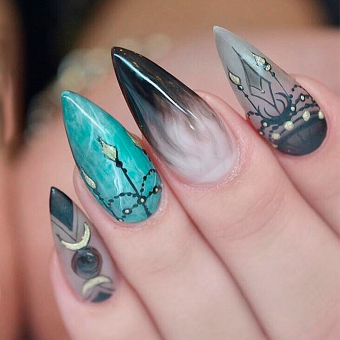 Chic and Luxury Stilettos Nails picture 2