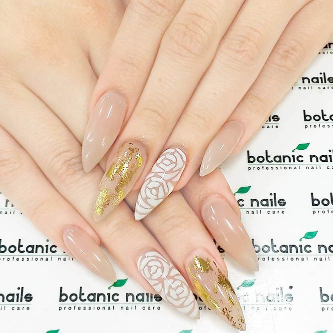 21 trendy and cute stiletto nails designs naildesignsjournal floral designs for stilettos nails picture 1 prinsesfo Choice Image