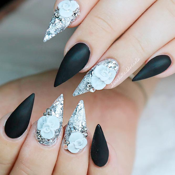Stiletto Nails With Designs