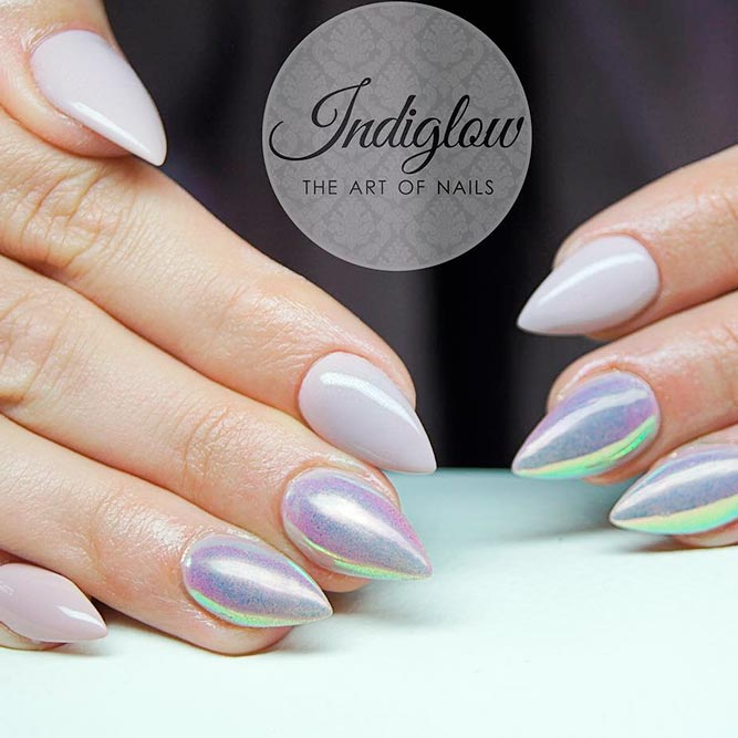 Lovely Short Stiletto Nails picture 3