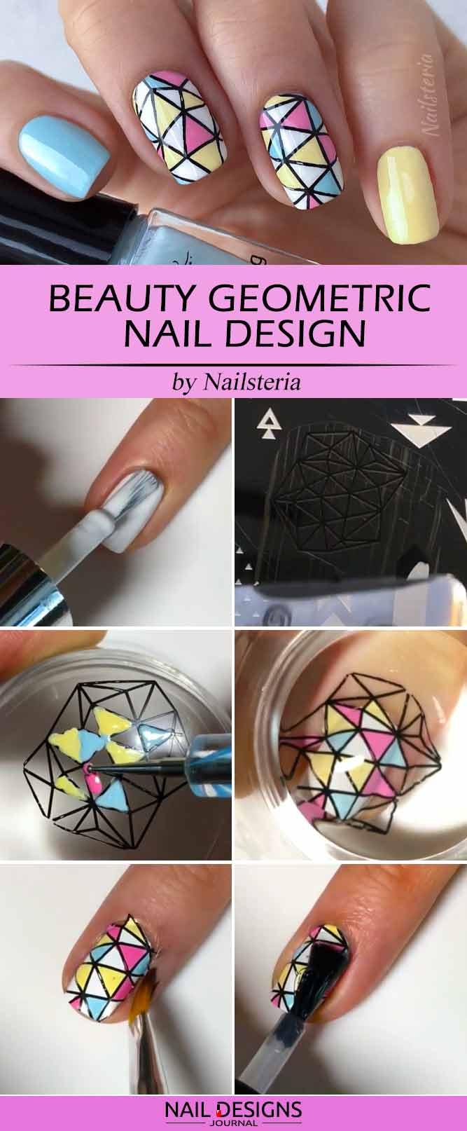 Beauty Geometric Nail Design