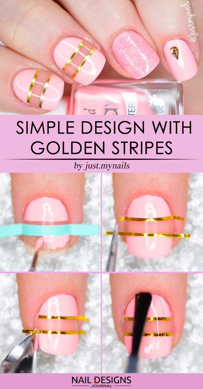 Simple Design With Golden Stripes