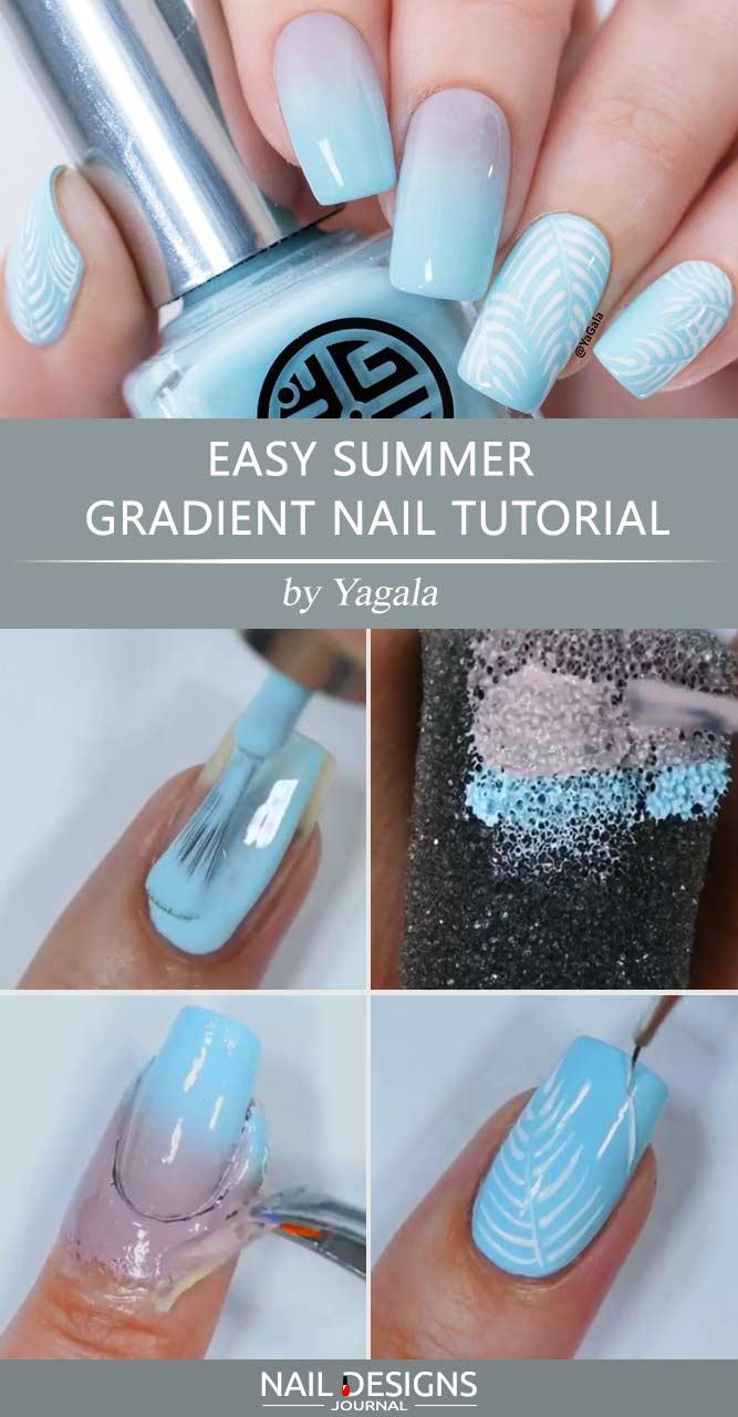 Easy Summer Gradient Nail Tutorial