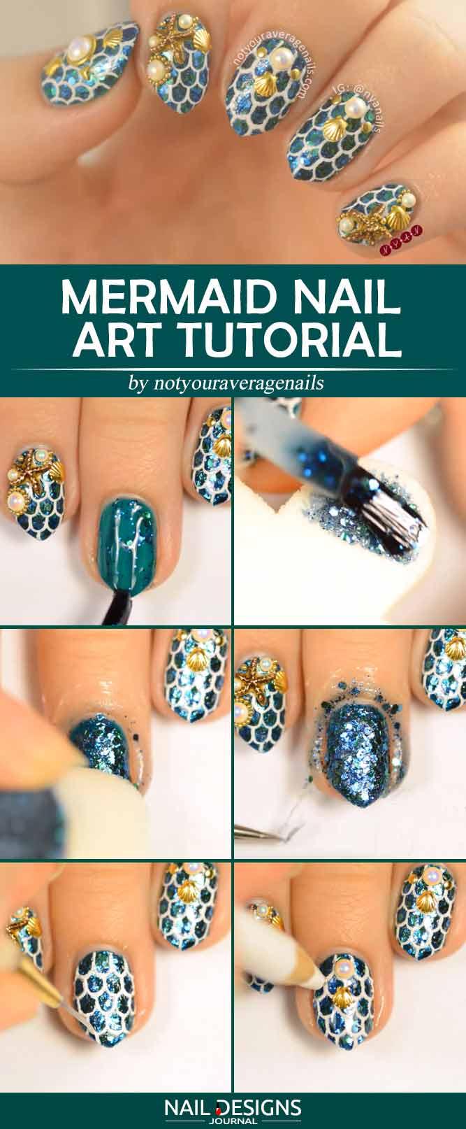 Mermaid Nail Art Tutorial