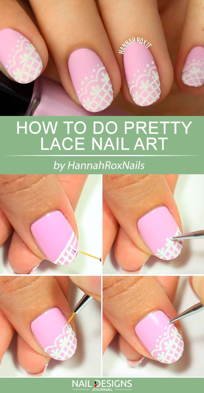 Pretty Lace Nail Art
