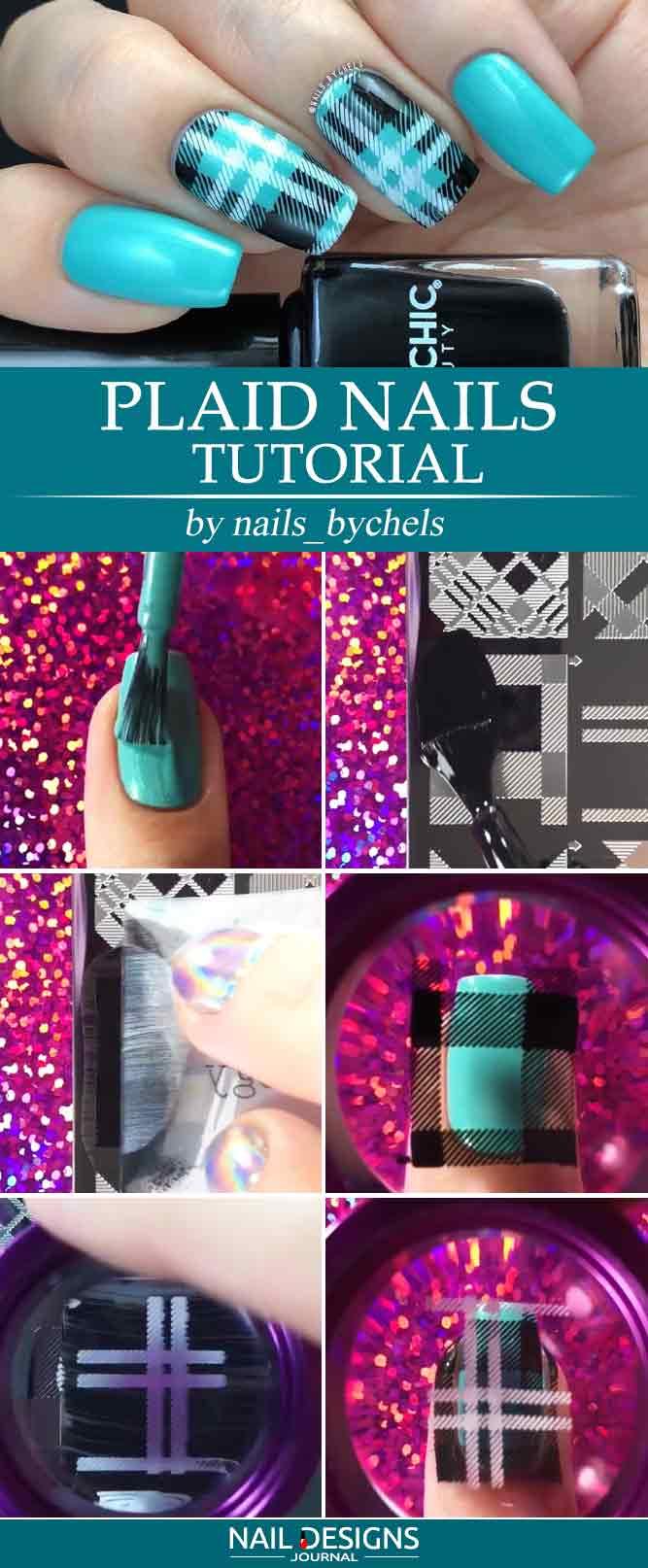 Plaid Nails Tutorial