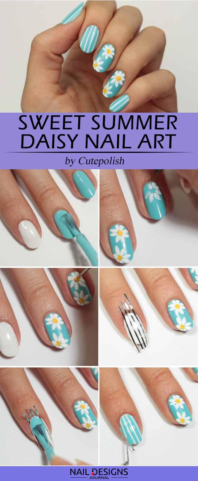 Sweet Summer Daisy Nail Art
