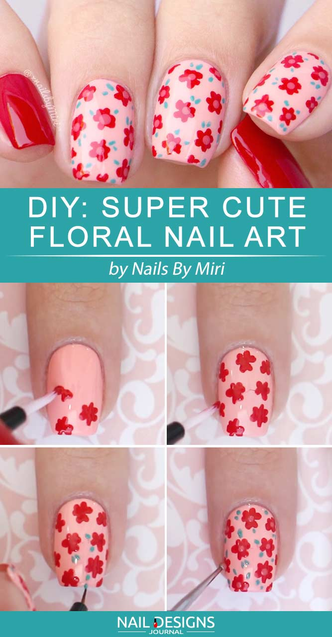 Super Cute Floral Nail Art