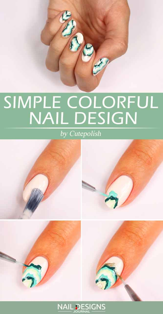 So Simple Colorful Nail Design