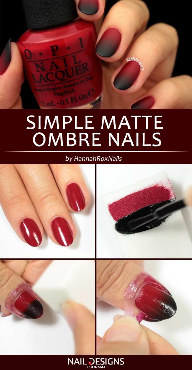 Simple Matte Ombre Nails