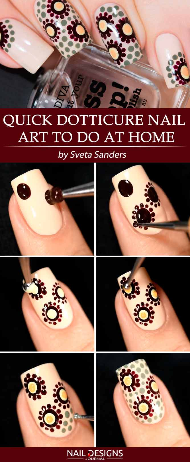 Quick Dotticure Nail Art To Do At Home