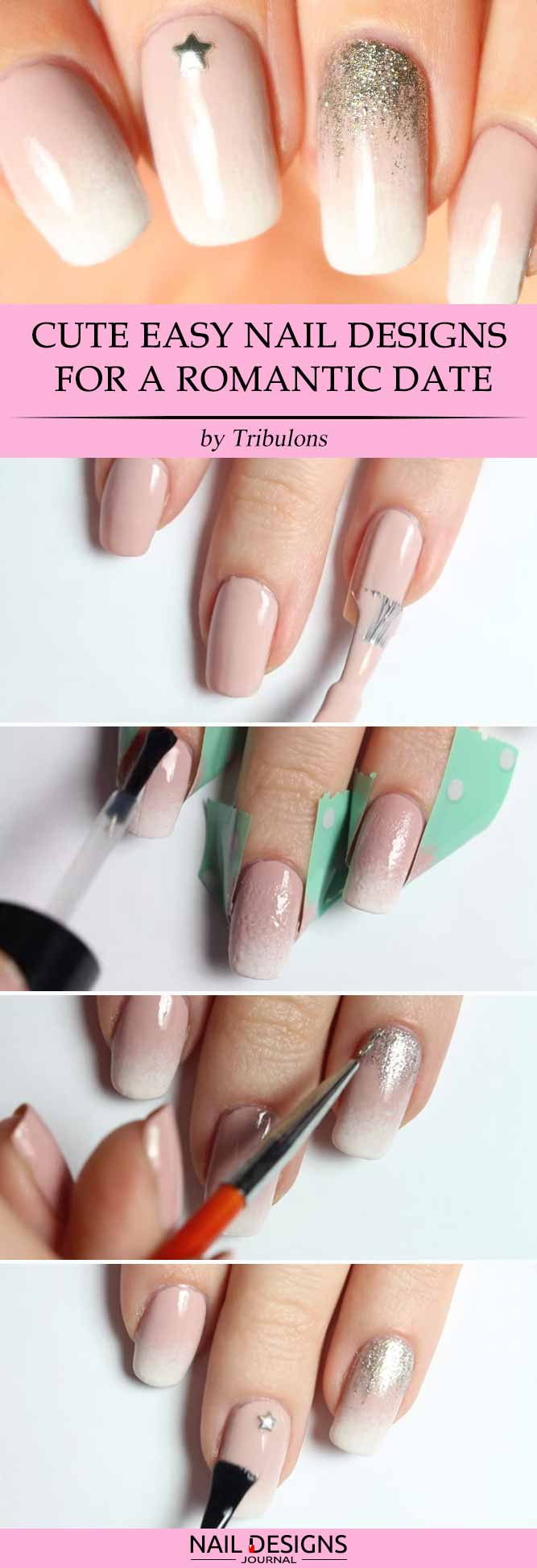 Cute Easy Nail Designs for a Romantic Date