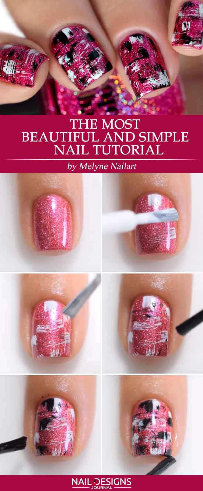 One of The Most Beautiful and Simple Nail Tutorials