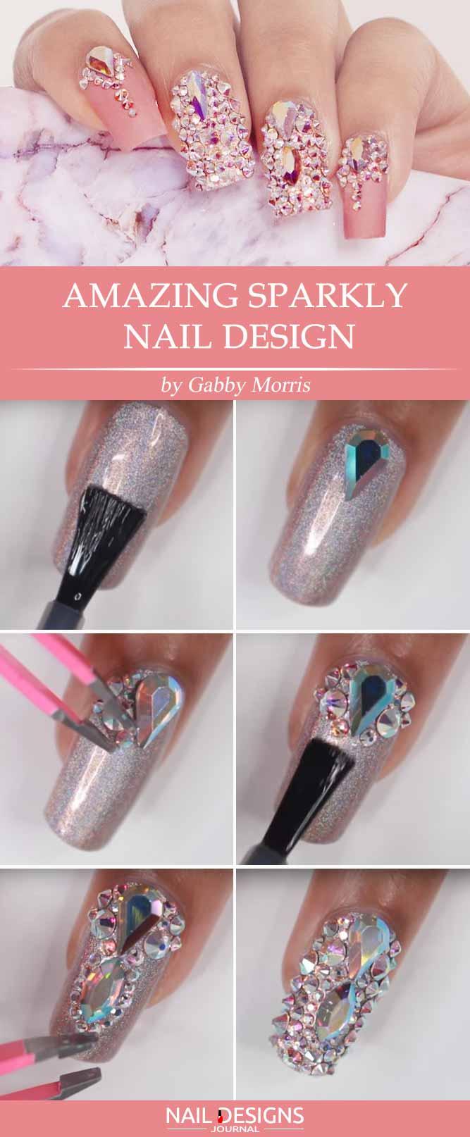 Amazing Sparkly Nail Design