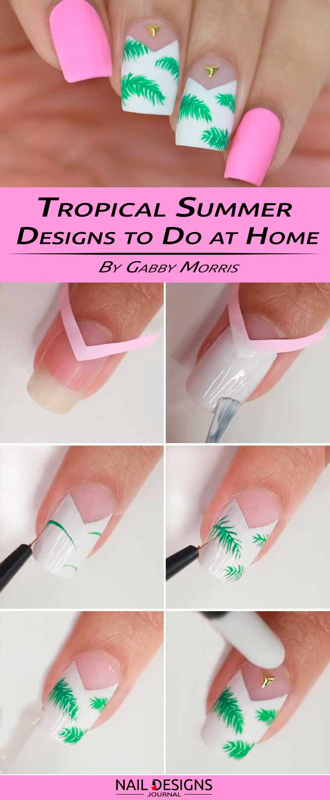 How To Do Nail Designs With Tropical Flowers