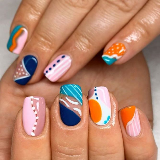 Abstract Nail Design To Salute The Autumn