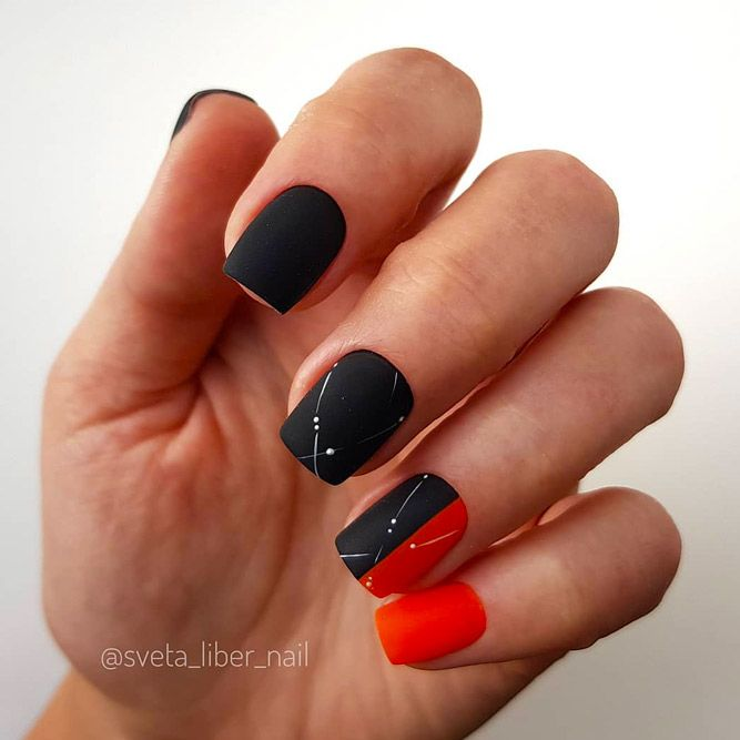 Two-Toned Manicure With Simple Accent
