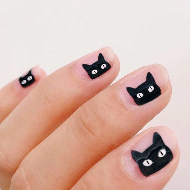Black Cat Manicure