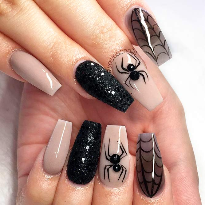 Spooky Spiders for Your Fancy Nails