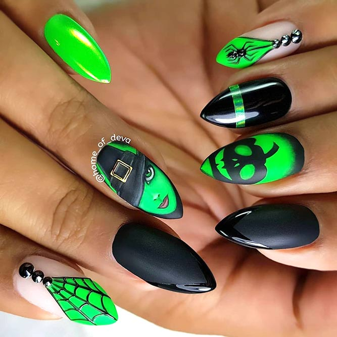 Witch Art Nails Design