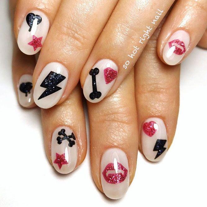 Cutie Glitter Nails