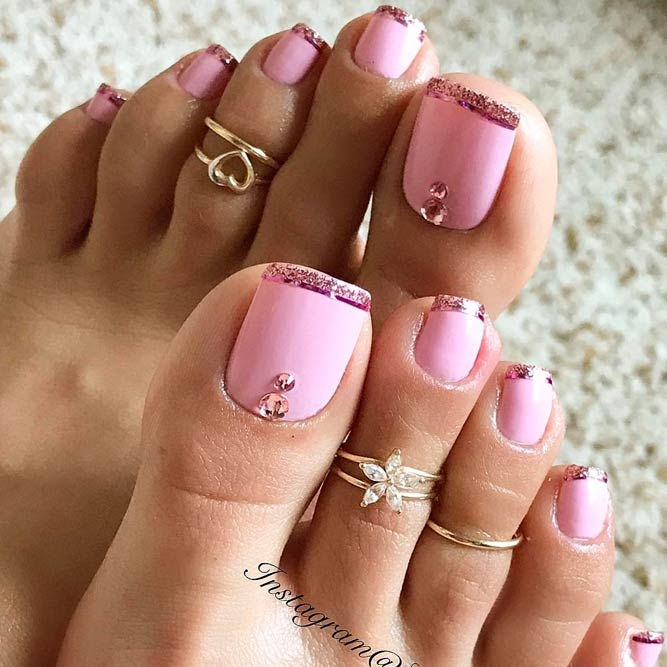 21 new nail designs for the summer naildesignsjournal trendy ways to upgrade french pedicure picture 2 prinsesfo Choice Image