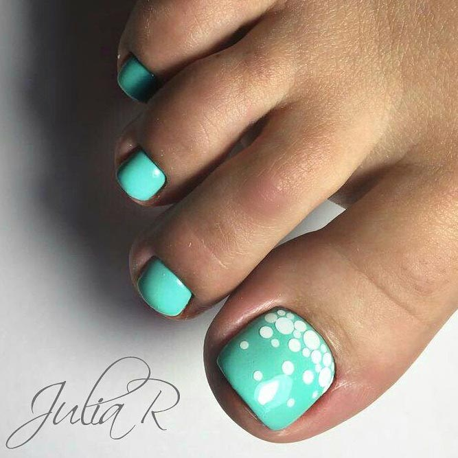 New Nail Designs for Cute Toes picture 2