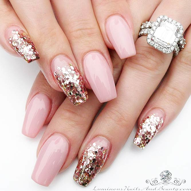 Cute and Sweet Nude Pink Nails picture 3