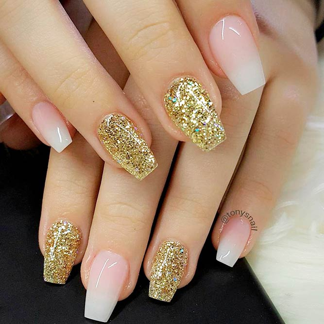Gorgeous Nude and Gold Nails You Will Love picture 1