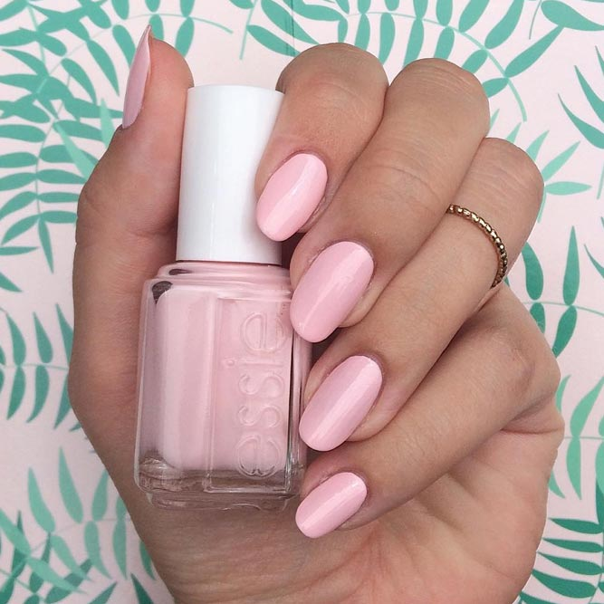 Creamy Light Pink Nails Express your Romantic Soul picture 3
