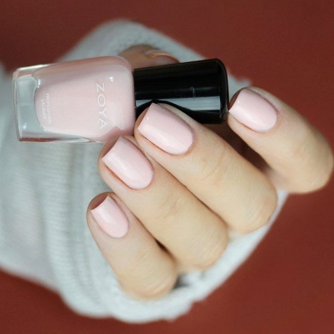 Creamy Light Pink Nails Express your Romantic Soul picture 1