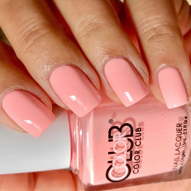 Cute Baby Pink Nail Polish picture 1