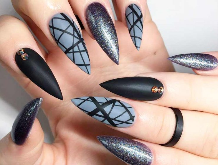 21 Luxury and Chic Pointy Nail Designs for Trendy Look - The Best Nail Shapes To Sport In 2017 NailDesignsJournal
