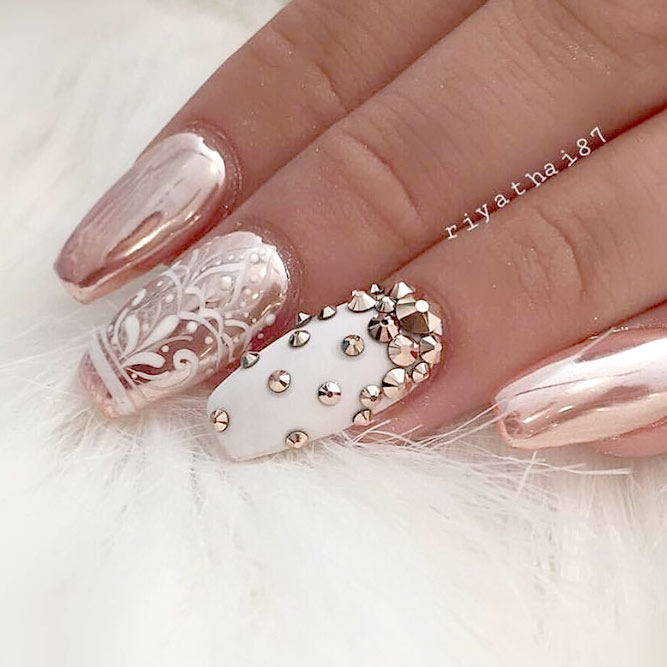 27 fall nails designs for your wedding naildesignsjournal fall nails designs for a wedding day picture 1 prinsesfo Image collections