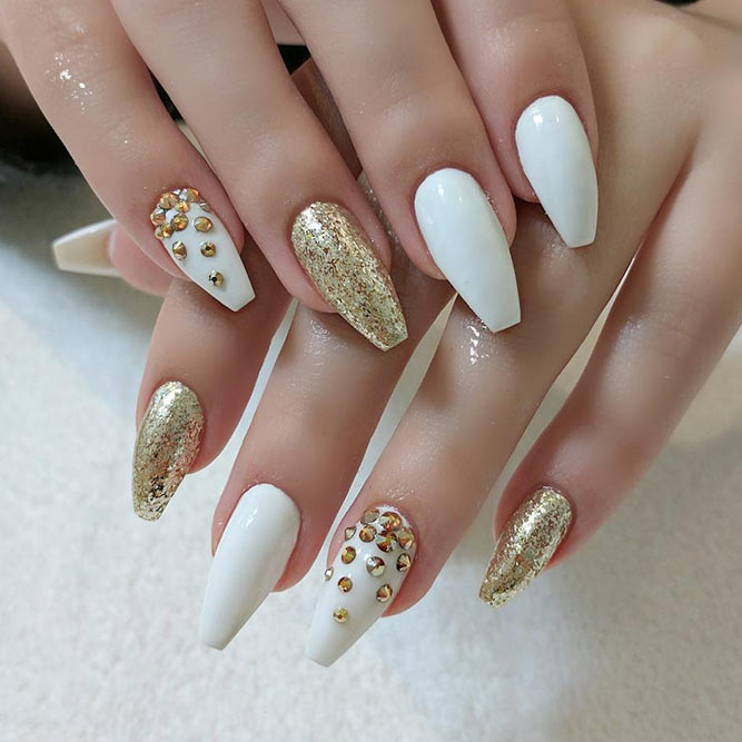 Sparkling Wedding Nails picture 1