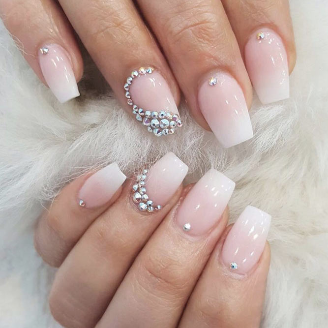 Gorgeous Rhinestones on Your Coffin Style Nails picture 3