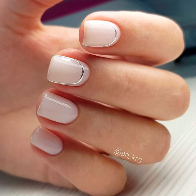 Nude Color Nails Illusion