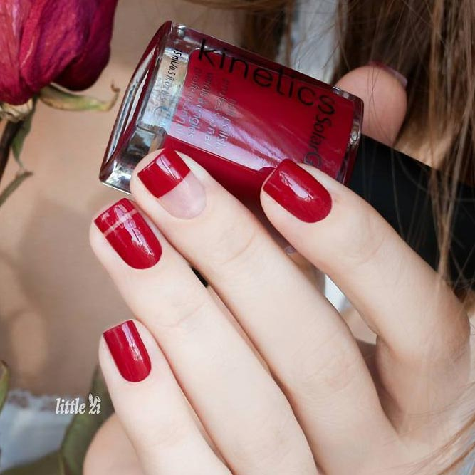 Red Nails Classic but Bold Ideas picture 2