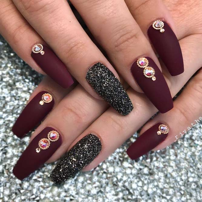 Shades of Maroon for a Coffin Nail Shape picture 3