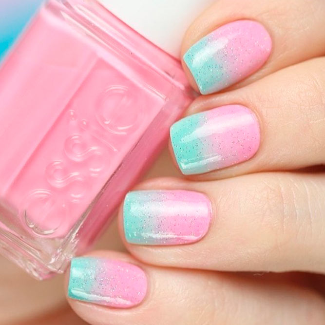 Elegant and Cute Ombre Nails in Delicate Tones picture 2