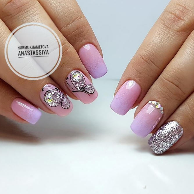 Elegant and Cute Ombre Nails in Delicate Tones picture 1